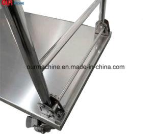 Plate-forme de base en acier inoxydable pliable part chariot 500kgs 4 Roues 3 castor
