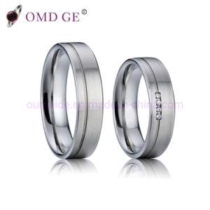 Monili del titanio di alta qualità degli insiemi degli anelli di fidanzamento degli anelli di cerimonia nuziale del Mens della spazzola
