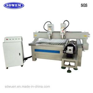 Wn-1325W2r-2 Processos Duplo Madeira corte CNC Máquina com eixo rotativo