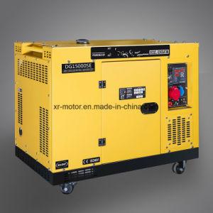2V92 Air-Cooledディーゼル機関によって動力を与えられる12kw無声ディーゼル発電機