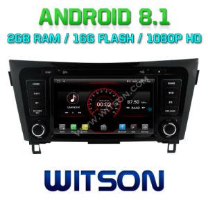 Android Quad-Core Witson 8.1 aluguer de DVD Leitor de GPS para a Nissan Qashqai 2014-2017 vídeo HD 1080P construído no TPMS/DVR/função OBD