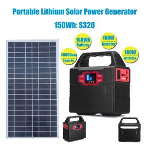 Generatore portatile di energia solare del sistema a energia solare con l'invertitore 100W