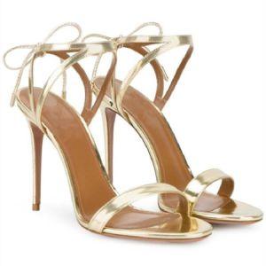 Les femmes et d'argent Golad Parti sexy haut talon d'usure robe de sangle de cheville sandales