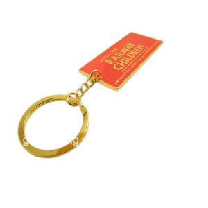 Metallo Keychain di modo che fonde sotto pressione gli anelli portachiavi in lega di zinco del metallo