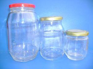 Stau-Glasglas, Glasglas, breiter Mund-Glasflasche