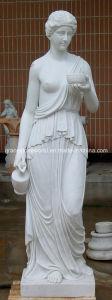 Het marmeren Standbeeld van de Vrouw met Bal