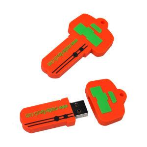 Специализированные ПВХ ключ USB Flash накопитель с 1-32Гб доступной емкости