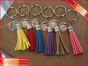 Regalo di cuoio promozionale Keychain di promozione di Keychain della nappa