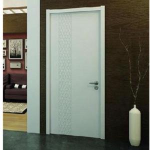 En PVC blanc classique/MDF porte en bois véritable