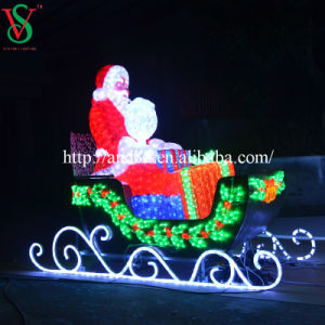 Weihnachtssankt-Pferdeschlitten und Rotwild