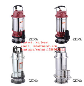깨끗한 물 0.75HP 스테인리스 잠수정 펌프를 사용하는 Qdxs 정원