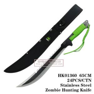 Cuchillos de caza Camping Cuchillo táctico de cuchillo de supervivencia Zombie Style 65cm.