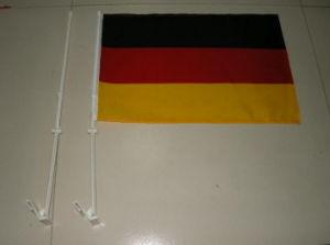 100 % polyester d'impression personnalisé de l'Allemagne drapeaux de voiture
