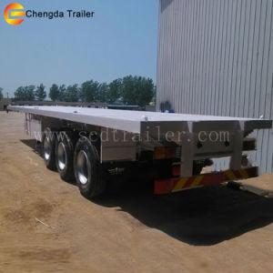 40FT 20FT 반 3개의 차축 평상형 트레일러 콘테이너 트레일러