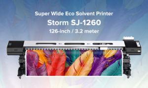 2 Dx7ヘッドが付いている3.2m Ecoの支払能力があるプリンター(SinoColor SJ-1260)
