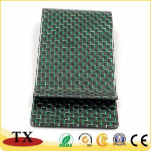 Верхний класс Зеленый корпус из углеродного волокна всеобщей роскошь деньги Clip