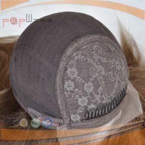 薄茶のユダヤ人作業人間の毛髪のかつら(PPG-l-0197)