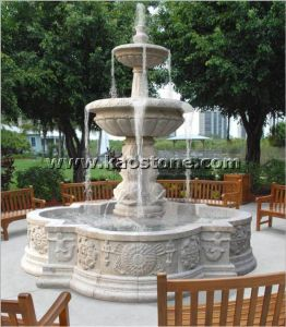 De natuurlijke/Mooie Marmeren Fontein van het Water van de Steen Snijdende voor Tuin