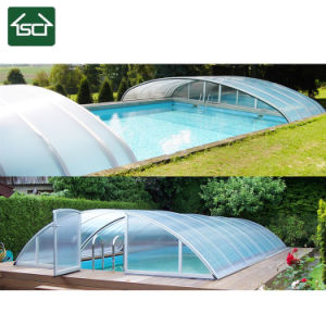 De duurzame Dekking van de Pool van de Muur met het Frame van het Aluminium en het Dakwerk van het Comité van PC
