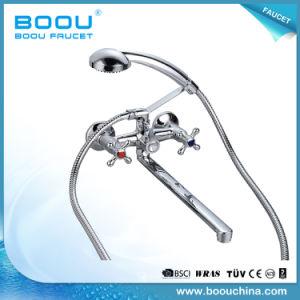 Boouの熱い販売の倍のハンドルの長い口の浴槽亜鉛洗浄のコック