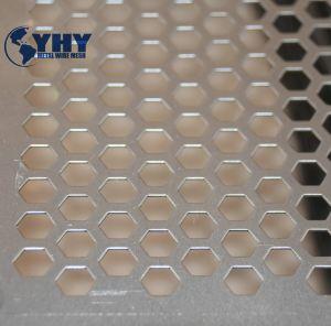 Haute qualité de l'épaisseur 1,5 mm galvanisé pour la vente de feuilles en métal perforé
