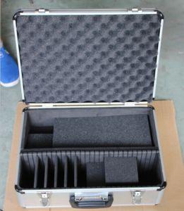 Estojo de armazenamento da Ferramenta de alumínio personalizado & Caixa com revestimento interior personalizado para violão CD DVD