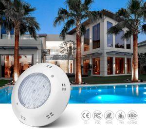 Resistente al agua IP68 25W de un solo color submarino de fibra de vidrio Piscina LED de luz con CE/RoHS