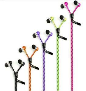 Metal exclusivo para iPhone pendurados no pescoço Zipper fone de ouvido com microfone
