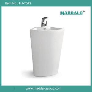 現代的な贅沢で大きく支えがない角の軸受け洗面器の流し(HJ-7042)