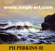 Het Olieverfschilderij van het zeegezicht (PH 02)