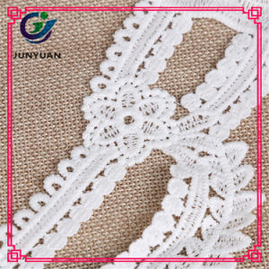Exquisito corcheted antiguo algodón Tambour Lace Collar