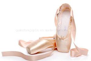 Disco duro de seda OEM única danza Ballet Pointe zapatos con correas