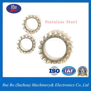 Plaqué zinc6798DIN un acier à ressort dentelée externe de la rondelle de blocage