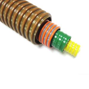 Hélice en PVC renforcé en plastique souple Spirale de décharge du tube d'aspiration de la ligne de conduite du tuyau flexible avec le carton ondulé ou une surface plane