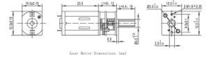Micro motor dc con caja reductora de 6V elevalunas para automóvil