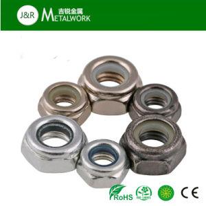 Galvanizadas galvanizado de inserción de nylon hexagonal tuerca de bloqueo (DIN985)