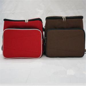 Sac diagonal simple de déjeuner de sac d'isolation thermique de paquet de glace (GB#165A)