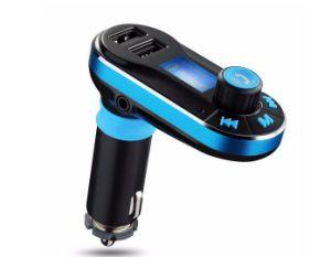 Kit de coche manos libres Bluetooth con el transmisor de FM y cargador de 2.1A