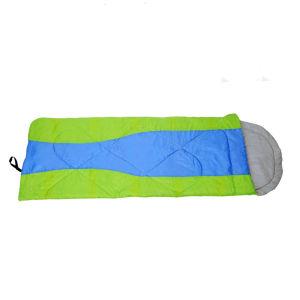 キャンプ折る軽量の空の綿の寝袋をハイキングする
