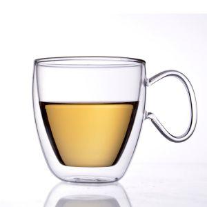 Handgemachtes hohes Borosilicat-Glas-Tee-Cup-doppel-wandiges Wasser-Cup