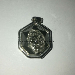 Gemme naturel Cristal Pendentif Agate Druzy placage