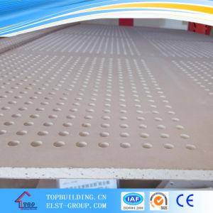 6/8mm de diamètre de trou perforé dalle de plafond en plâtre/panneau de gypse carreaux décoratifs en PVC