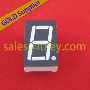 El valor numérico de un solo dígito pantalla LED con 7 segmentos