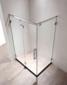 De eenvoudige Ontwerp Aangemaakte Uitrusting van de Deur van de Bijlage van de Douche van het Glas voor Badkamers