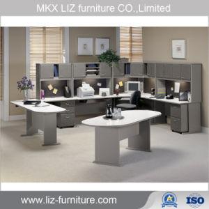 Panel de madera de estilo clásico armario de la Oficina de mesa ejecutiva de estaciones de trabajo (2212)