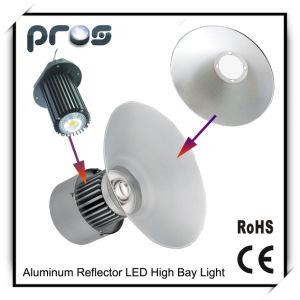Reflector de aluminio de alta potencia 50W LED de alta de la luz de la bahía de la COB