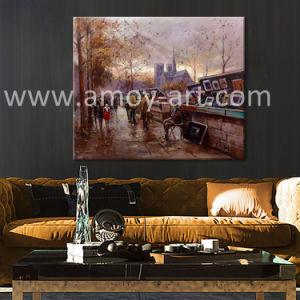 ホーム装飾のための印象的なパリの通りのキャンバスの絵画