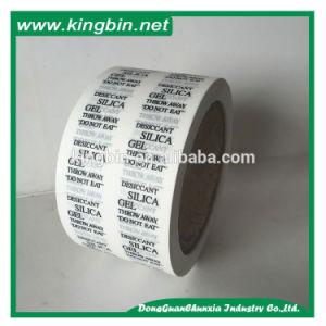 El algodón absorbe aire de gel de sílice del papel de embalaje
