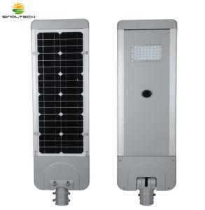 Série plana 20W integrado LED alimentada a energia solar iluminação com controle remoto (SNFL-20)
