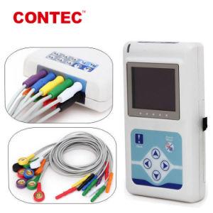 Contec Tlc9803 3チャネルパソコンのソフトウェアが付いているレコーダー24時間のECG Holterのモニタの